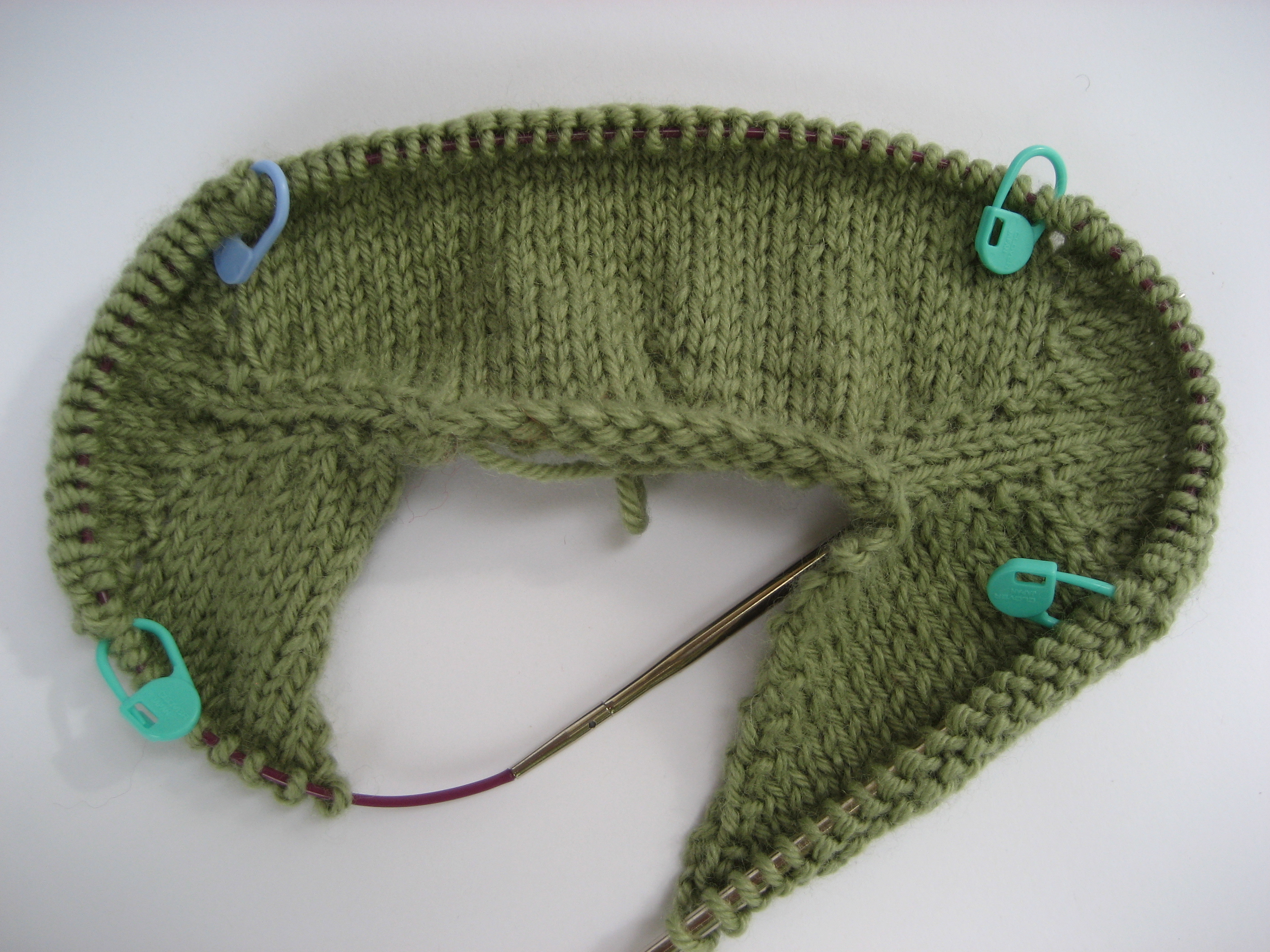 Knitting Increases For Sleeves : Top dowm set in sleeve sweaters recipe for a yarn