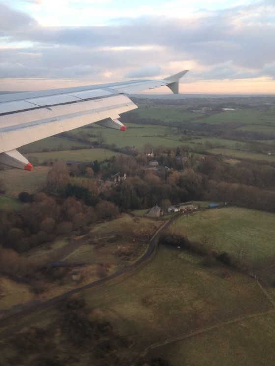Flying into Leeds.